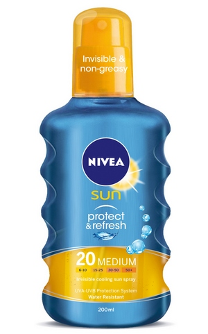 NIVEA Sun Protect  Refresh Invisible Protection Spray SPF 2 cr