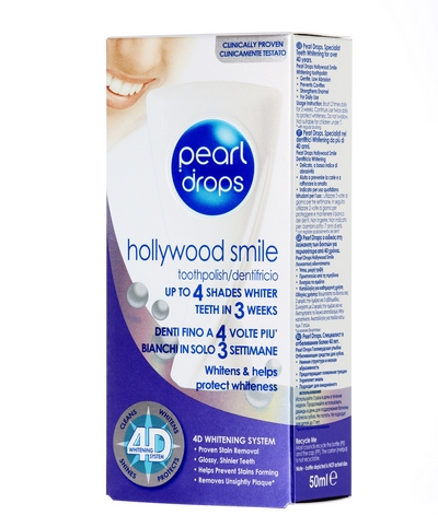 Pearl Drops Hollywood Smile Carton Angled Sarantis Pack cr