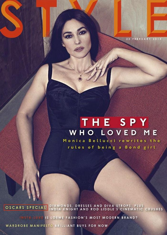 monica bellucci sunday times style february 2015 cover