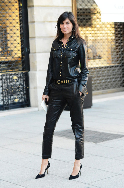 la-modella-mafia-Emmanuelle-Alt-2012-style-icon-Vogue-Paris-fashion-editor-street-style-Balmain-leather