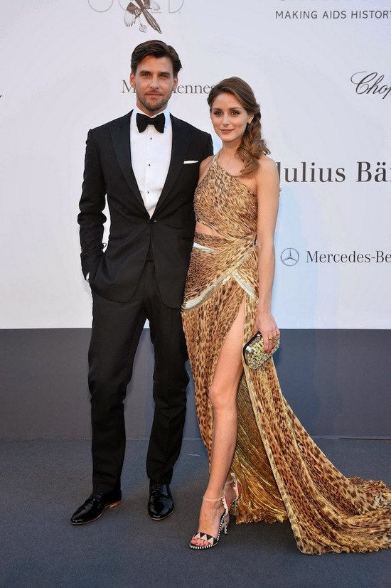Olivia-Palermo-and-Johannes-Huebl-in-Roberto-CavalliamfAR-2013-in-Cannes-2013-05-23