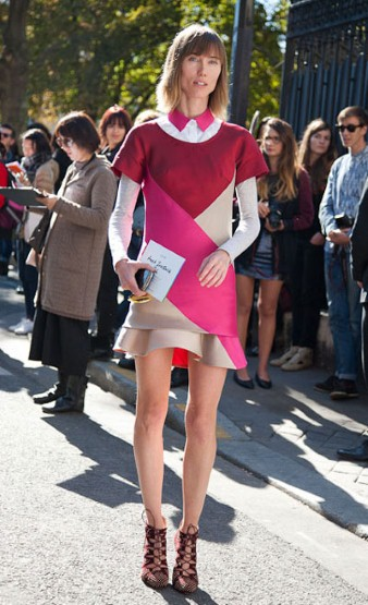 Anya Ziourova wearing Ostwald Helgason at Fashion Week