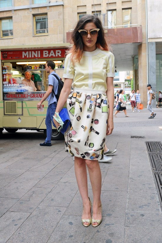 Eleonora-Carisi-outside-Moschino-Men-Spring-2013-show-Milan