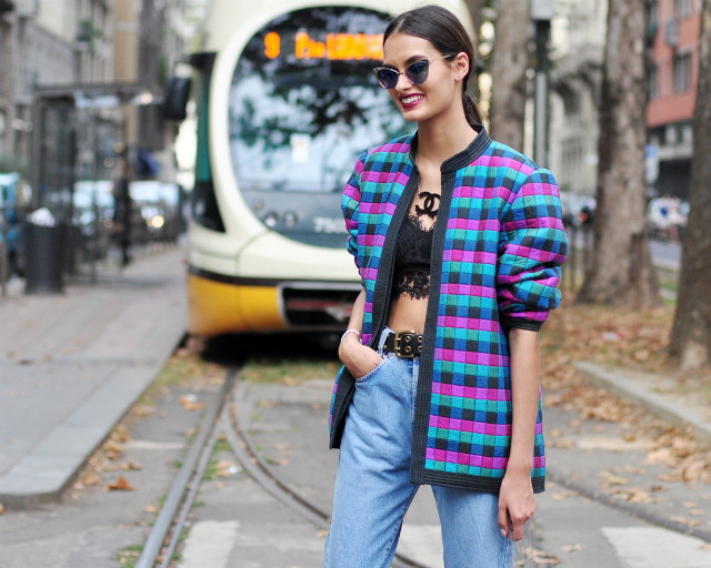 more street style at milan fashion week ss15 GIZELE OLIVEIRA