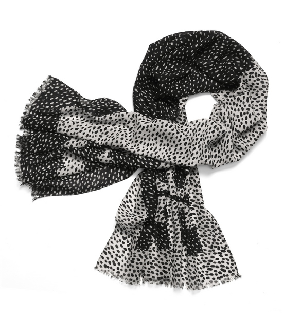 TB Dotted Pony Logo Scarf in Black
