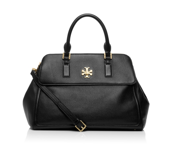 TB Mercer Tory Turnlock Dome Bag in Black cr