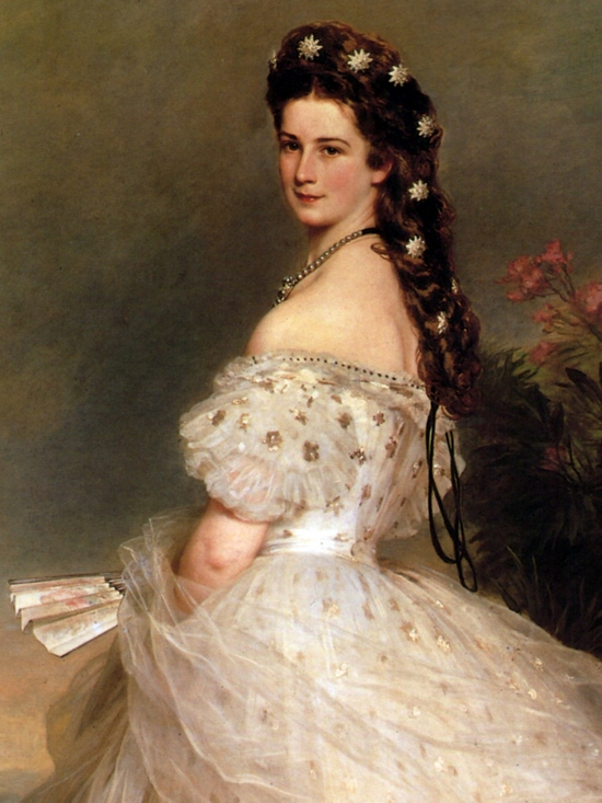 Empress Elisabeth of Austria in dancing-dress 1865 Franz Xaver Winterhalter