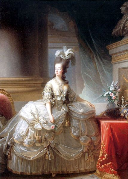 Marie Antoinette in court dress by Elisabeth Vigee-Lebrun