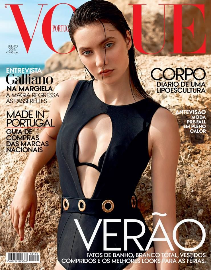 Matilda Lowther - Vogue Magazine Cover Portugal July 2015