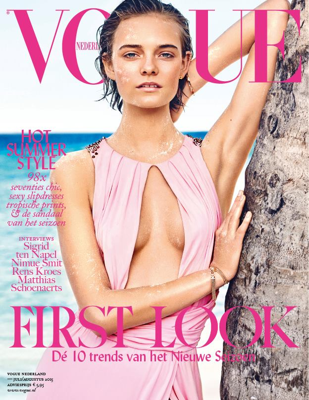 Nimue Smit covers Vogue Netherlands July 2015