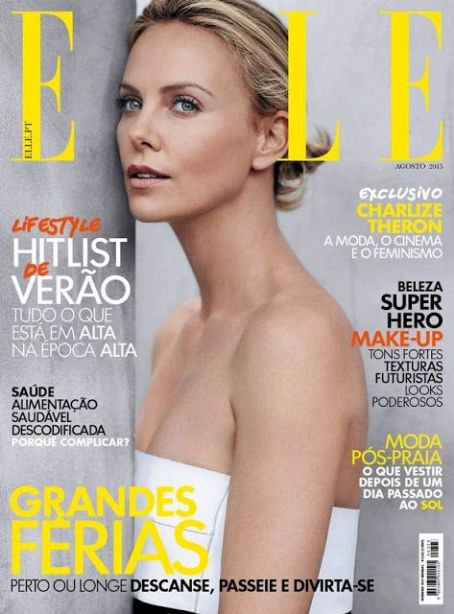 Charlize Theron - Elle Magazine Cover Portugal August 2015