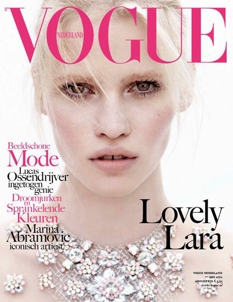 Lara-Stone-Vogue-Netherland-May-2012-cover
