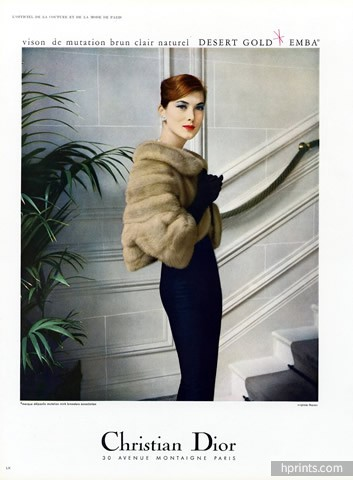 Dior Fur Clothing 1957