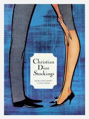 Vintage ad for Christian Dior stockings1960