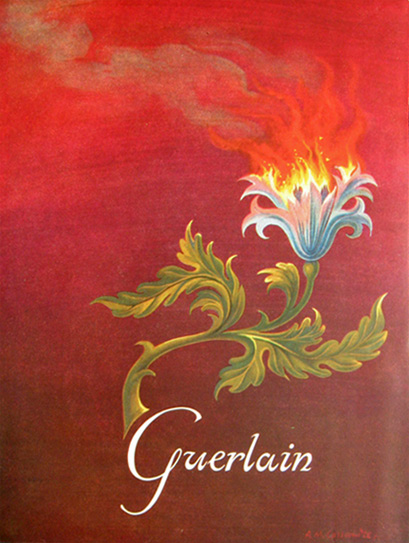 1951 Vintage Guerlain Ad in Color