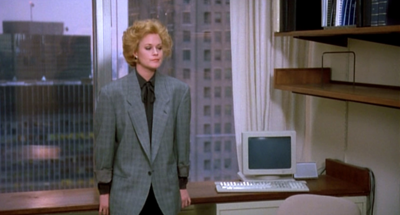 Working-Girl Melanie-Griffith Loose-Glencheck-jacket-front