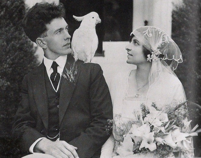 vintage-wedding-with-parrot