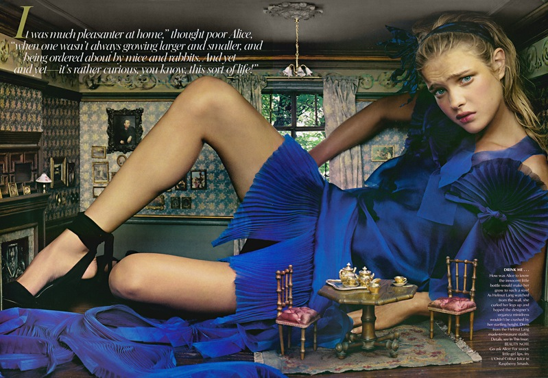 natalia vodianova alice in wonderland vogue 2003 4