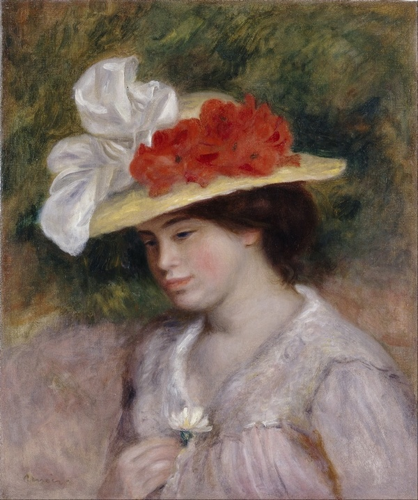 Pierre Auguste Renoir - Woman in a Flowered Hat - Google Art Project