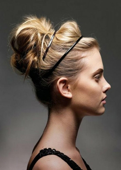 Sleek-Hair-Messy-Bun