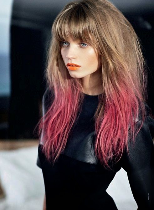 light-brown-pink-two-tone-hair-2016