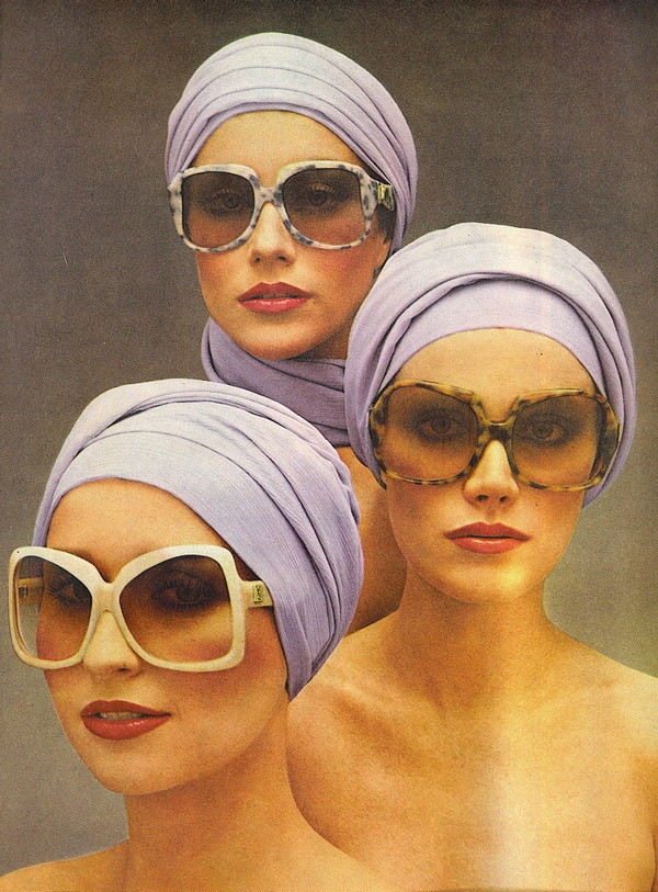 Yves Saint Laurent Sunglasses Ad- Vogue May 1976