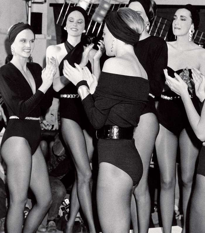 Backstage at Donna Karan Fashion Show SpringSummer 1986