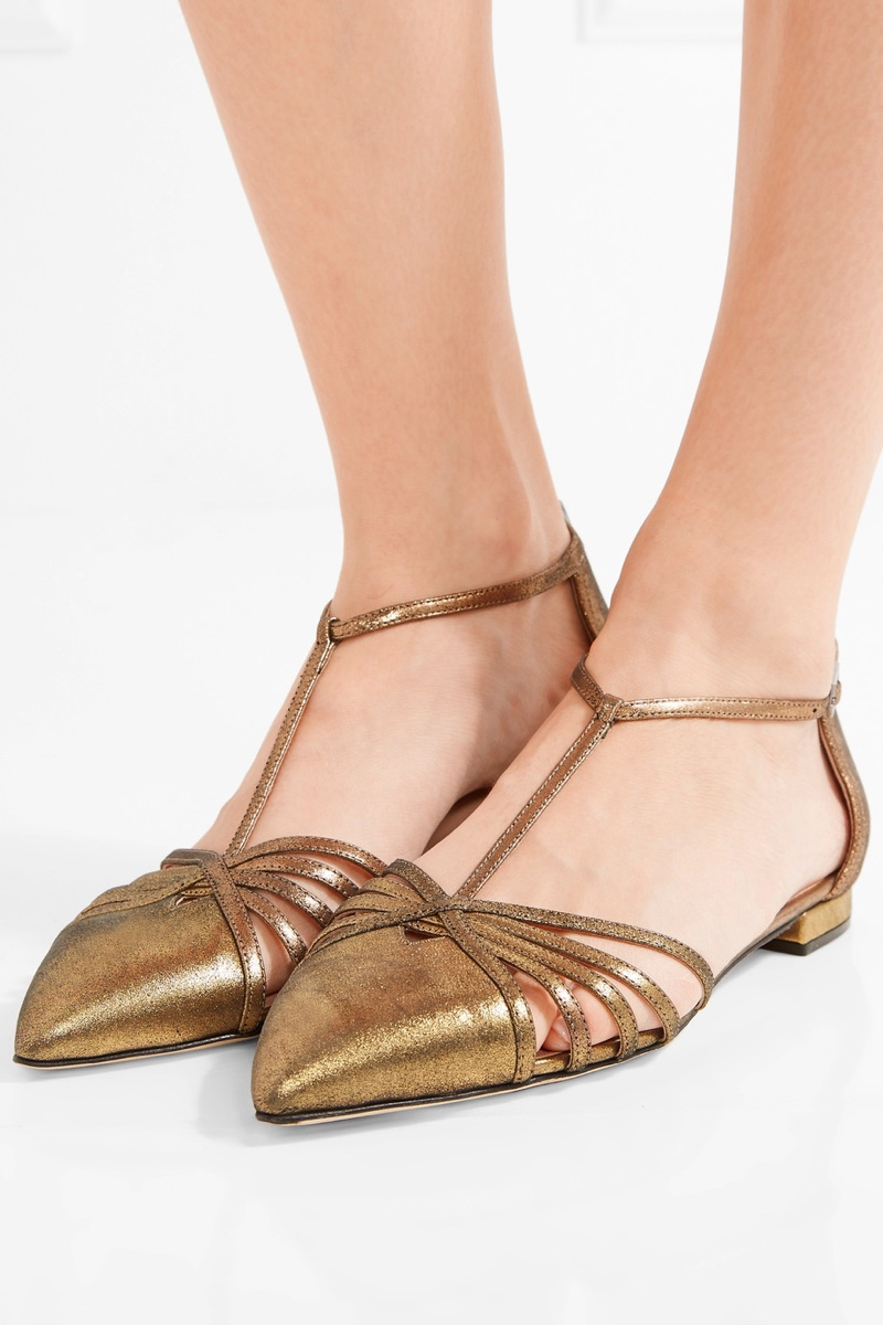 SJP-Sarah-Jessica-Parker-Carrie-Metallic-Leather-Point-Toe-Flats