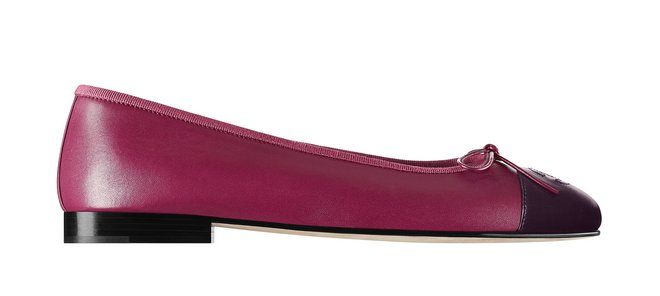 Ballerinas in fuschia and burgundy leather G02819-X51318-C4152 cr