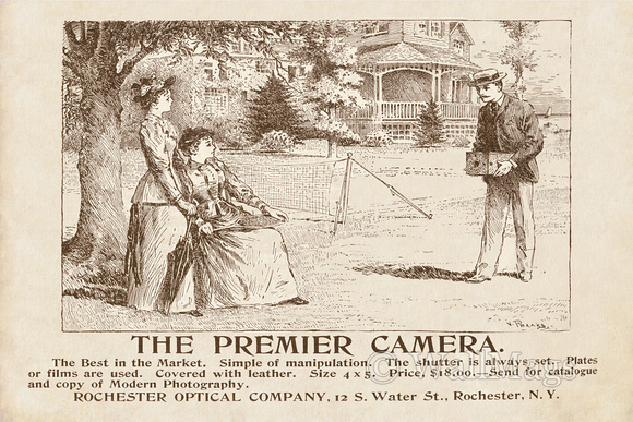 Premier Camera Ad From 1892