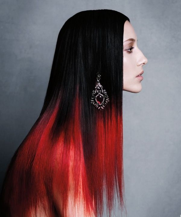 red black ombre
