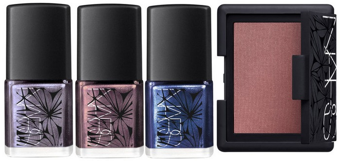 NARS-Laced-With-Edge-Makeup-Collection-for-Christmas-2014-nails-and-face