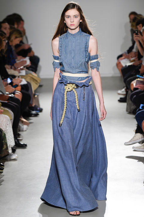 03-veronique-branquinho-denim-ruffled-shirt-maxi-skirt-spring-2015-h724