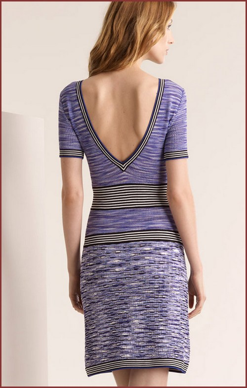 Missoni-Space-Dye-Purple-Casual-Knit-Dress