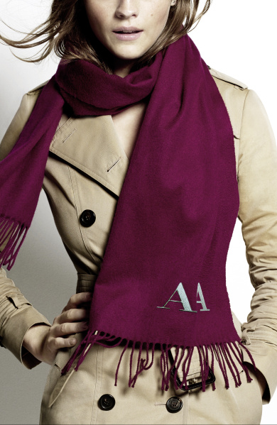 Burberry Scarf Styling - The Bandana step two featuring Amber Anderson