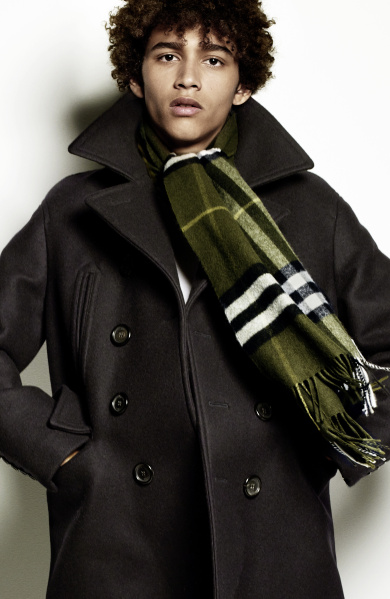 Burberry Scarf Styling - The Tuxedo Fold featuring Jackson Hale