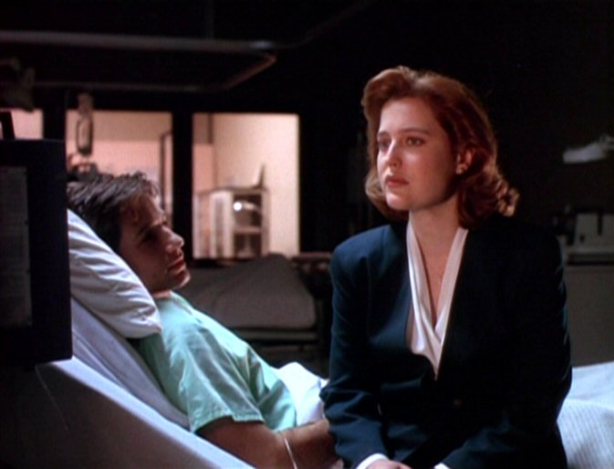 Dana Scully admits fear to hospitalized Fox Mulder