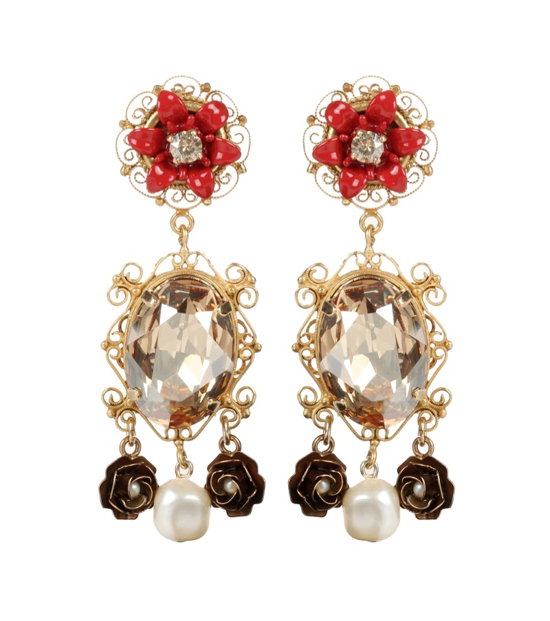 Dolce-Gabbana-Embellished-Clip-On-Earrings