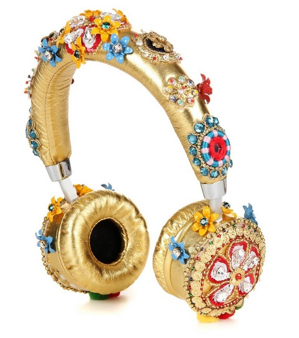 Dolce-Gabbana-Embellished-Metallic-Leather-Headphones
