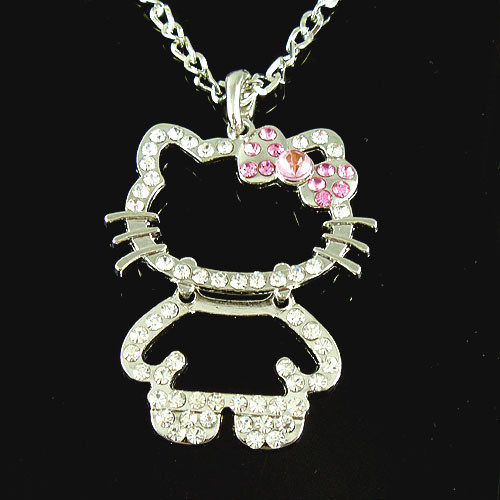 Wholesale-Lady-12Pcs-font-b-Charm-b-font-Jewellery-Hello-font-b-Kitty-b-font-Bow