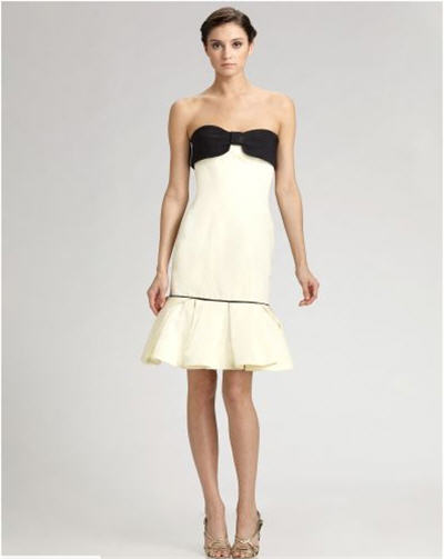 carolina-herrera-bow-trim-faille-dress