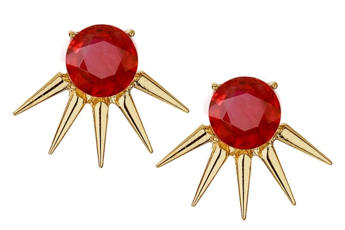 spike-Earrings-set-with-rubies