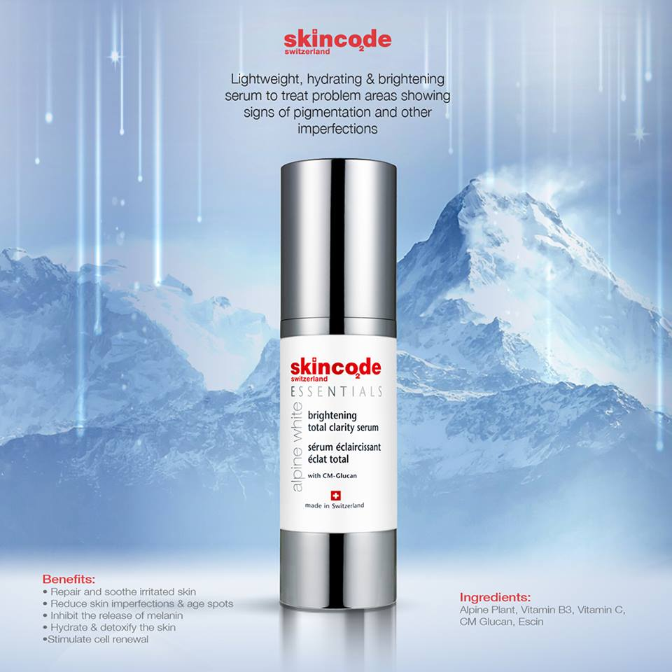 Alpine white brightening total clarity serum