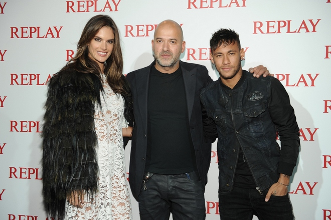 Alessandra Ambrosio Replay CEO Matteo Sinigaglia Neymar Jr copy