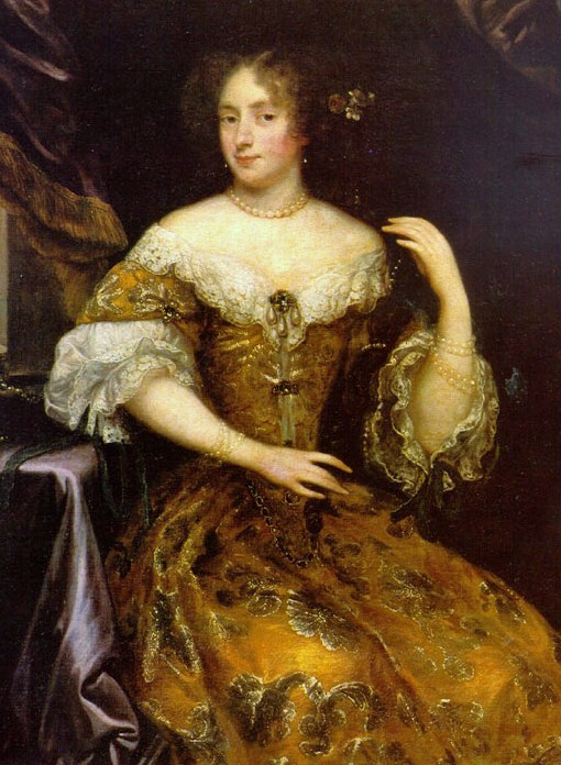 Caspar Netscher Dutch Baroque Era Painter c 1635-1684 Montespan in Gold Dress