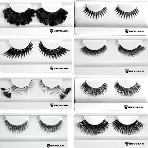 Kryolan Holiday 2010 False eyelashes collection