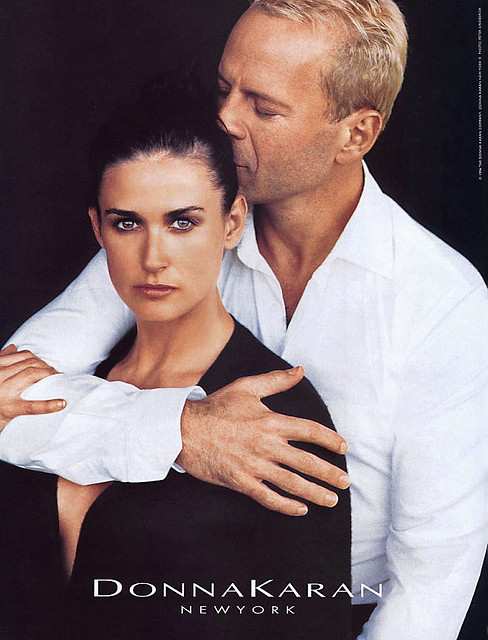 Demi Moore and Bruce Willis Donna Karan Fall 1996