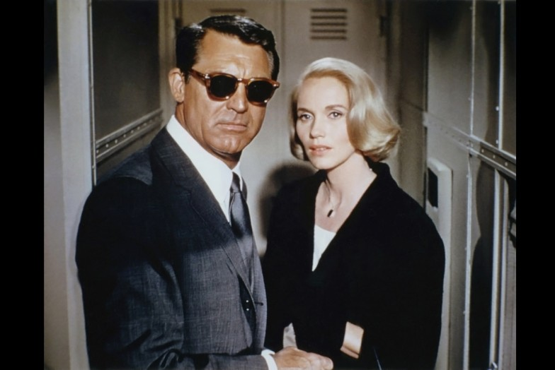 Cary Grant and Eva Marie Saint in North By Northwest 1959