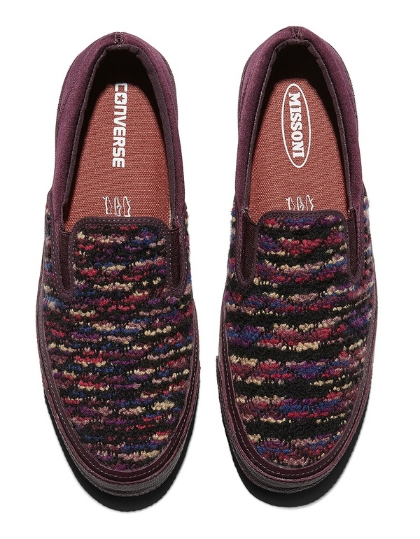 Converse Deck Star Slip 67 Missoni - Burgundy Top 33763