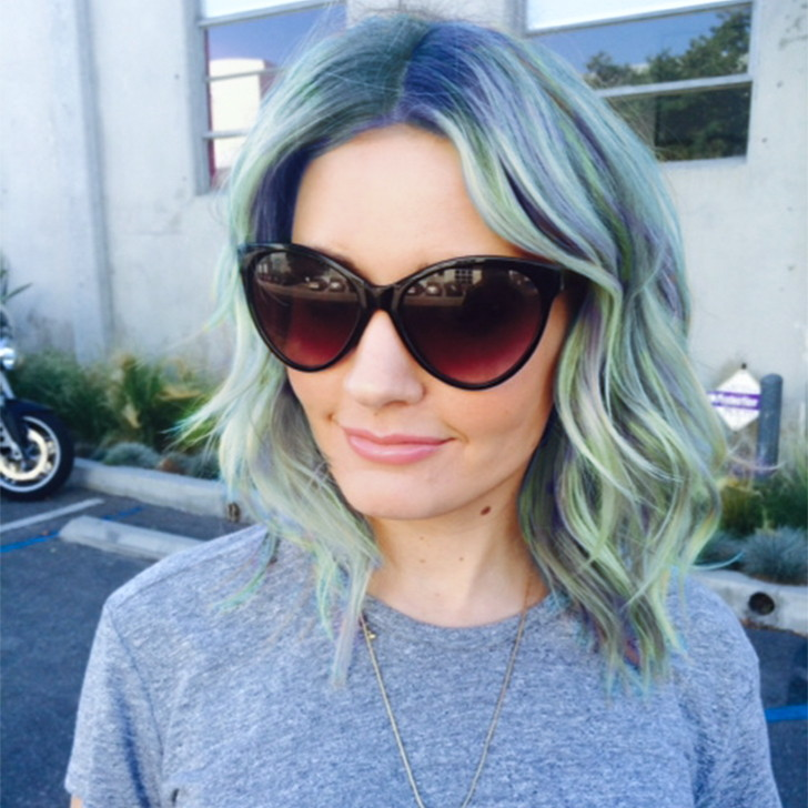 Nicole-Richie-Lavender-Hair-Tips